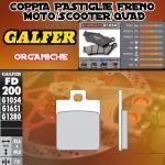 FD200G1054 PASTIGLIE FRENO GALFER ORGANICHE POSTERIORI MALAGUTI CIAK 99-