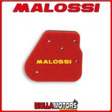 1414483 SPUGNA FILTRO ARIA MALOSSI HUPPER MONTECARLO 30 50 2T (1E40QMB) DOPPIO STRATO DOUBLE RED SPONGE PER FILTRO ORIGINALE -