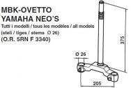 9415 TESTA DI FORCELLA MBK-OVETTO YAMAHA NEO 'S Tutti i modelli steli Ø 26