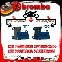 BRPADS-39096 KIT PASTIGLIE FRENO BREMBO BETA SUPER TRIAL 1992- 50CC [TT+CC] ANT + POST