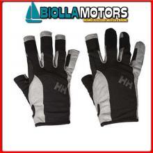 3049511 SAILING GLOVE SHORT 990 BLACK S Guanti HH Sailing Gloves