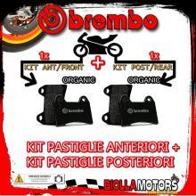 BRPADS-49480 KIT PASTIGLIE FRENO BREMBO MALAGUTI F18 PROJECT 2000- 125CC [ORGANIC+ORGANIC] ANT + POST