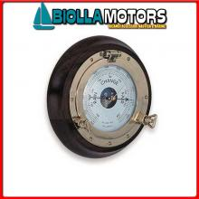 5807919 BAROMETRO OBLO D320 LEGNO/OTTONE Barometro / Orologio su Oblo' e Cornice