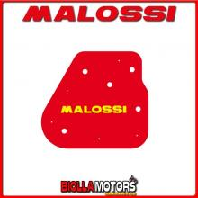 1414044 SPUGNA FILTRO ARIA MALOSSI HUPPER MONTECARLO 30 50 2T (1E40QMB) RED SPONGE PER FILTRO ORIGINALE -