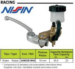 44MCB19N0 POMPA FRENO ANTERIORE RADIALE NISSIN 19 x 21 ORO GAS GAS EC 200