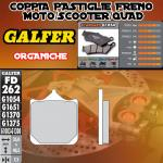 FD262G1054 PASTIGLIE FRENO GALFER ORGANICHE ANTERIORI DERBI MULHACEN 650 06-