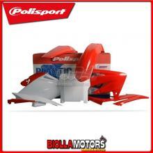 P90115 KIT PLASTICHE CARENE HONDA CRF 250 R 2006-2007 ROSSO/BIANCO POLISPORT