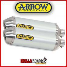 71677AO MARMITTE ARROW RACE-TECH APRILIA RSV 1000 R Factory 2004-2008 ALLUMINIO/INOX