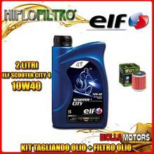 KIT TAGLIANDO 2LT OLIO ELF CITY 10W40 HUSQVARNA SMR125 4T 125CC 2012- + FILTRO OLIO HF140