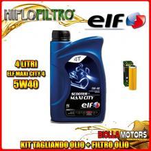 KIT TAGLIANDO 4LT OLIO ELF MAXI CITY 5W40 KTM 1050 Adventure 1050CC 2015-2016 + FILTRO OLIO HF650