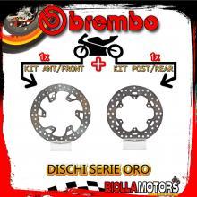 BRDISC-1160 KIT DISCHI FRENO BREMBO HUSQVARNA TC 2014- 125CC [ANTERIORE+POSTERIORE] [FISSO/FISSO]