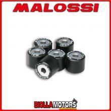 6611095.U0 6 RULLI RULLI VARIATORE MALOSSI D. 20X17 GR. 15,5 ITALJET DRAGSTER 180 2T LC - -