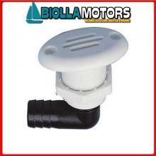 1710305 SFIATO PLASTIC OVAL GOMITO Sfiato Curvo 90° in Plastica Ovale