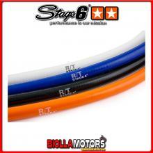 S6-01211010/BK TUBO RADIATORE SILICONICO STAGE6 R/T, CON CURVA, 15x 22, NERO, 1 METRO