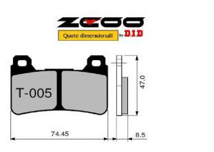 45T00501 PASTIGLIE FRENO ZCOO (T005 EX C) HONDA CBR 600 RR 2005-2006 (ANTERIORE)