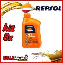 KIT 8X LITRO OLIO REPSOL MOTO OFF ROAD 4T 10W40 1LT - 8x RP162N51IT