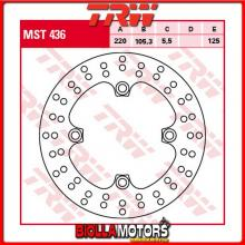 MST436 DISCO FRENO POSTERIORE TRW Triumph 1050 SpeedTriple,Fgst.-333178 2005-2007 [RIGIDO - ]