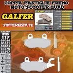 FD117G1370 PASTIGLIE FRENO GALFER SINTERIZZATE POSTERIORI TGB QUADBLADE 400 06-