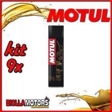 KIT 9X 400ML SPRAY LUBRIFICANTE MULTIUSO P4 EZ LUBE MOTUL 400 ML - 9x 102991