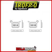 43018100 PASTIGLIE FRENO ANTERIORE OE PINZE - CALIPERS RACING minimoto tipo POLINI 5555- CC [ORGANICHE]