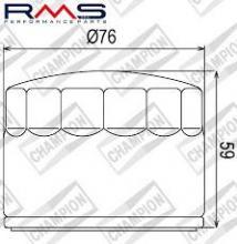 100609125 COF452 FILTRO OLIO MOTO GUZZI 1000 V1000 posso convertire il 75-84 (H302)