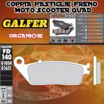 FD140G1054 PASTIGLIE FRENO GALFER ORGANICHE POSTERIORI TRIUMPH THUNDERBIRD 900/SPORT 95-