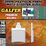 FD048G1651 PASTIGLIE FRENO GALFER PREMIUM POSTERIORI DERBI GPR 50 SPORT 93-96