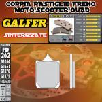 FD262G1370 PASTIGLIE FRENO GALFER SINTERIZZATE ANTERIORI DERBI MULHACEN 650 06-