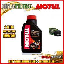 KIT TAGLIANDO 2LT OLIO MOTUL 7100 10W50 PIAGGIO 400 Beverly i.e. 400CC 2006-2008 + FILTRO OLIO HF184