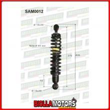 SAM0012 COPPIA AMMORTIZZATORI POSTERIORI MICROCAR LIGIER NOVA 0200063 0200071 (MK012)