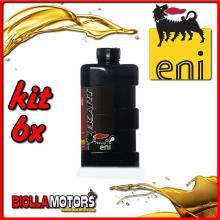 KIT 6X LITRO OLIO ENI KART 2T TOP SYNTETIC - 6x E141991