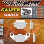 FD075G1054 PASTIGLIE FRENO GALFER ORGANICHE POSTERIORI MZ/MuZ BAGHIRA 00-