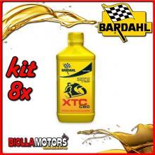 KIT 8X LITRO OLIO BARDAHL XTC C60 10W50 LUBRIFICANTE PER MOTO 4T 1LT - 8x338141