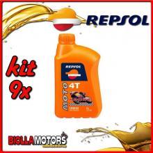 KIT 9X LITRO OLIO REPSOL MOTO RACING 4T 10W40 1LT - 9x RP160N51IT