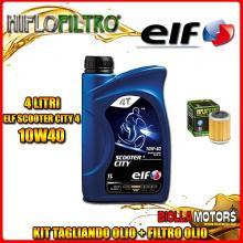 KIT TAGLIANDO 4LT OLIO ELF CITY 10W40 YAMAHA TT600 E 600CC 1999-2000 + FILTRO OLIO HF143