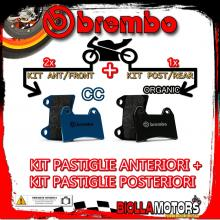 BRPADS-48249 KIT PASTIGLIE FRENO BREMBO SACHS ROADSTER 2000- 800CC [CC+ORGANIC] ANT + POST