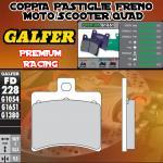 FD228G1651 PASTIGLIE FRENO GALFER PREMIUM POSTERIORI DERBI RAMBLA 300 ie 10-