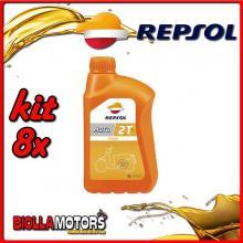 KIT 8X LITRO OLIO REPSOL MOTO TOWN 2T 1LT - 8x RP151X51