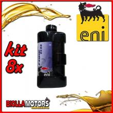 KIT 8X LITRO OLIO ENI FORK OIL 10W FORCELLA - 8x E142791