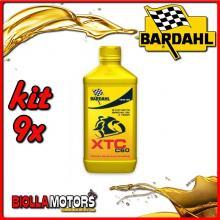 KIT 9X LITRO OLIO BARDAHL XTC C60 10W30 LUBRIFICANTE PER MOTO 4T 1LT - 9x348141