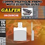 FD170G1054 PASTIGLIE FRENO GALFER ORGANICHE ANTERIORI DERBI VAMOS R 95-95