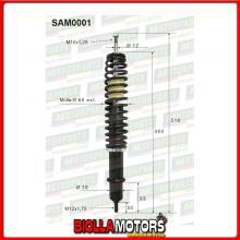 SAM0001 COPPIA AMMORTIZZATORI ANTERIORI MICROCAR AIXAM AI4009 AK009 (MK001)