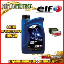 KIT TAGLIANDO 4LT OLIO ELF CITY 10W40 YAMAHA XJ1100 J 1100CC 1982- + FILTRO OLIO HF146