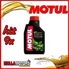 KIT 9X LITRO OLIO MOTUL 5100 4T 10W30 TECHNOSYNTHESE 100% SINTETICO PER MOTORI 4T - 9x 104062