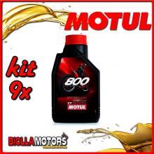 KIT 9X LITRO OLIO MOTUL 800 2T FACTORY LINE OFF ROAD 100% SINTETICO 2TEMPI - 9x 104038
