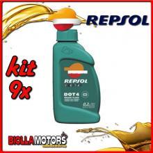 KIT 9X LITRO REPSOL DOT4 BRAKE FLUID 1 LITRO - 9x RI801A91IT