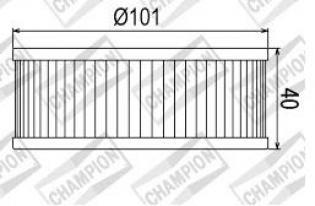 100609815 COF046 FILTRO OLIO YAMAHA XVZ13 T, DN, DS, DT, T, TC, DU, DUC 85-88 (X311)