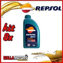 KIT 8X LITRO REPSOL BLU CONCENTRATO (LIQUIDO RADIATORE) - 8x RI800A90
