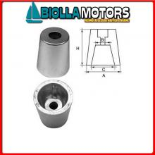 5111662 ANODO OGIVA CONE ALU D100 Anodi in Alluminio a Ogiva