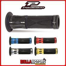 405402745 COPPIA MANOPOLE PROGRIP 728-OE-104 Scooter, Blu, Inserti in Alluminio, Con Foro